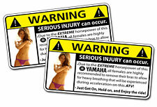 Yamaha ATV Horsepower Warning Sticker Raptor Grizzly