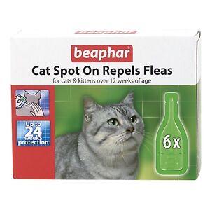 Beaphar Cat & Kitten Flea Spot On Treatment Repels Fleas for 24 Weeks