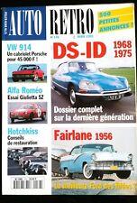 AUTO Rétro n°176; Alfa Roméo Guilietta SZ/ VW 914/ DS-ID dossier complet/ Fairla