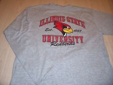ILLINOIS STATE REDBIRDS LONG SLEEVE GRAY T-SHIRT MENS SMALL EXCELLENT