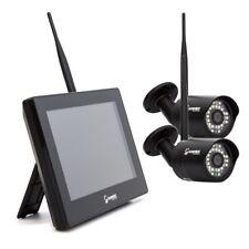 HD Funk Videoüberwachungsanlage 2x Kamera Fuß Monitor 2TB HDD Haus Überwachung