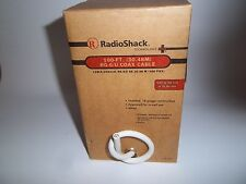 RADIO SHACK 278-023  RG-6/U 100-FT.   SHIELDED COAX CABLE, WHITE  278-0023