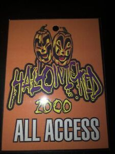 INSANE CLOWN POSSE ICP / TWIZTID HALLOWICKED 2000 ALL ACCESS TOUR PASS RARE