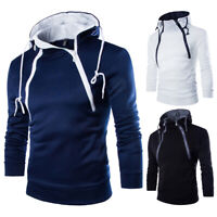 Men's Winter Slim Hoodie Warm Coat Hooded Sweatshirt Coat Jacket Outwear Sweater