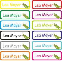 Kinder Wunsch Namen Aufkleber Schule Kita Kindergarten Etiketten Krokodil E25