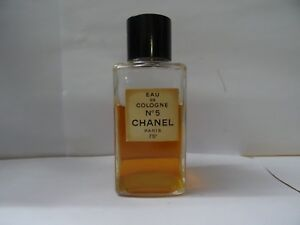 VINTAGE EAU DE COLOGNE No 5 CHANEL PARIS 75* USED