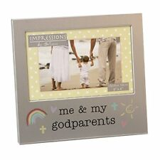 Me and My Godparents Photo Frame Brushed Aluminium Juliana Collection