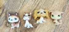 LITTLEST PET SHOP 4 PIECE LOT - DOGS - POODLE COCKER SPANIEL HUSKY BOXER