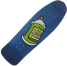 "NEW DEAL ""Spray Can"" Skateboard Deck 9.75"" BLUE Transfer Print Ltd Edition 1990s"