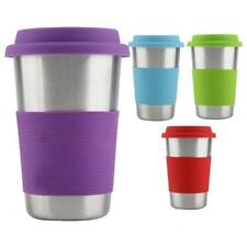 500ml Stainless Steel Mug Tumbler Coffee Tea Travel Cup With Silicone Cover &Lid