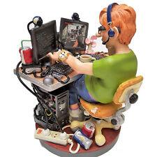 Profisti-coumputer programmatore Nerd XL scultura personaggio 20613t