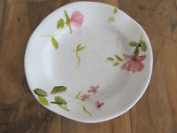 Gibson Elite Handpainted-Pink Floral/Splatters-Free Form Salad Plate(s)-10 Avail