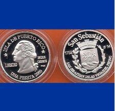Silver PESETA SAN SEBASTIAN Pepino 2009 Puerto Rico Boricua Quarter 1/100 Plata