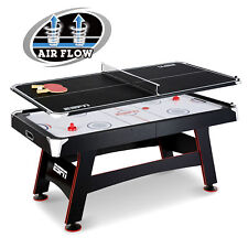 ESPN 72 Inch Air Powered Hockey Table With Table Tennis Top U0026 In Rail Scorer
