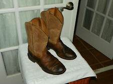 ARIAT Heritage Stockman 10002247 Brown Leather Cowboy Boots Men's Size 9 EE