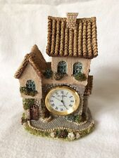 Collectible Country Cottage Clock Ornament Figurine MTIF 1994