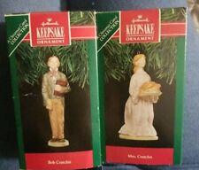Hallmark Keepsake Ornaments 1991 Christmas Carol Bob Cratchit and Mrs. Cratchit