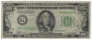 $100 1934-A Federal Reserve Note Philadelphia FR#2153-Gm Mule