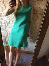Beautiful Green Wool Crepe Neve Shift Dress By GOAT Uk 10 £540