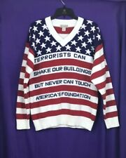 **Pre-owned K-o'd American Flag Style Sweater - Medium**