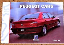1996 peugeot voitures sales brochure - 106 205 306 405 406 605 806 GTi-6 cabrio xsi
