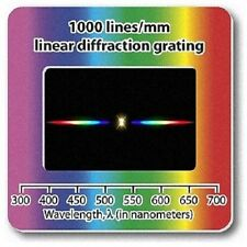 Pack of 10 Diffraction Grating Slides - Linear 1000 Lines/mm Holographic Physics