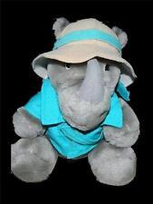 Dakin Fun Farm Rhino Plush Stuffed Animal Safari Hat 1987 Vintage