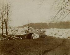 Susquehanna River, Sunbury Pennsylvania. Ice Jam. 2 Cabinet Cards
