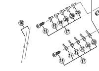 Shimano BR-M965 calliper fixing bolt unit