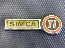 SIMCA TI embleme logo insigne monogramme coffre hayon en plastique