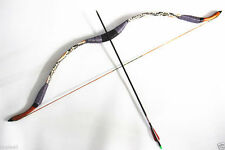 20Lbs Blue Handmade Traditional Recurve Bow Kids Youth Archery Shooting Hunting