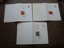 SUISSE - 3 cartes 1973/1980/1993 (cy87) switzerland