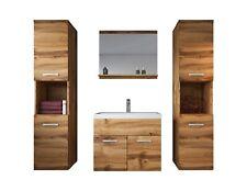 Badezimmer Badmöbel Set Montreal xl 60 cm Waschbecken Wotan (Braun) - Unterschra