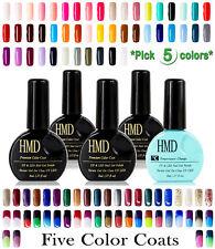 5 Pcs value pack HMD Soak Off UV LED Gel Nails Polish variety selection Canada