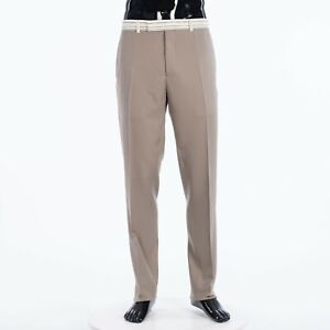DIOR 850$ Trousers With Signature Christian Dior Striping In Beige Wool Twill