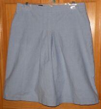 "Ladies Brooks Brothers ""346"" Light Blue Oxford Cloth Skirt W/Front Pleats Sz 10"