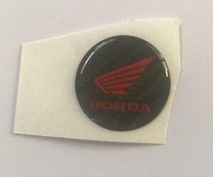 2.9cm Round Logo Carbon Gel Resin Sticker For Honda Motorcycle Tank Pad Red R