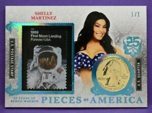 BenchWarmer 25 Years Shelly Martinez RARE 1/1 GOLD COIN Pieces of America Insert