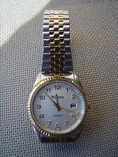 Vtg Mens Westclox Quartz Wristwatch Silver & Gold Tone - Serviced - Running  C69