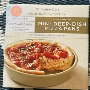 New n Box VTG Williams Sonoma Mini Deep Dish Pizza Oven Pans Nonstick Goldtouch