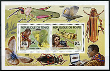 More details for chad 2013 mnh scouting & nature grasshoppers butterflies 2v deluxe m/s stamps