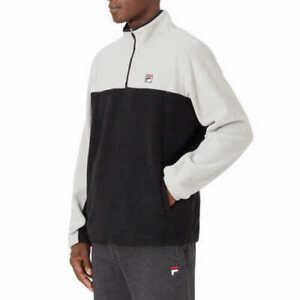 NEW!!! Fila Men's 1/4 Zip Colorblock Long Sleeve Fleece Pullover Jacket & XXL