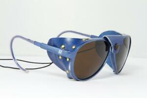 Vuarnet 430 Glacier Sunglasses Blue Gitan Cable Hook PX5000 Mineral Brown Lens