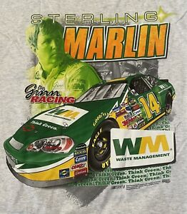 NASCAR Vintage STERLING MARLIN T-Shirt NEW IN PACKAGE  2XL  Gray FREE SHIPPING