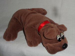 "Vtg Pound PUPPY Plush 80s RUMPLE SKINS Tonka Stuffed Animal 8"" Tan Brown Dog"