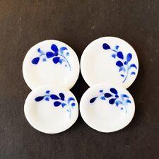 4x 18 mm Casa de Muñecas en Miniatura Blanco Cerámica Gallito tazones de fuente