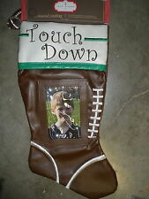 NEW Touch Down Football Christmas stocking musical
