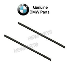 NEW BMW E70 X5 07-13 Pair Set of Rear Left & Right Black Door Mouldings Genuine