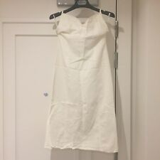 New White Linen and Cotton H&M Halterneck Fitted Pencil Dress Size UK 10