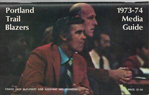 1973-74 PORTLAND TRAILBLAZERS NBA MEDIA GUIDE VINTAGE FREE SHIPPING